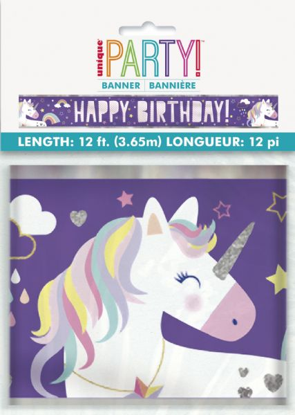 Unicorn Birthday Foil Banner